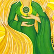 Anahata Heart Chakra Goddess Art Print
