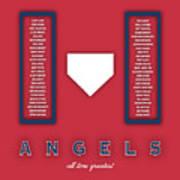 Anaheim Angels Art - Mlb Baseball Wall Print Art Print