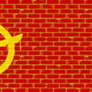 Anarchy Graffiti Red Brick Wall Art Print