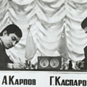 Anatoly Karpov And Gari Aka Gary Art Print