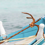 Anchor On A Boat In Maldives Art Print
