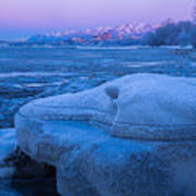 Anchorage Icebergs Art Print