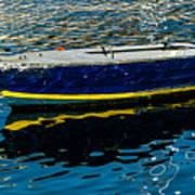 Anchored Boat Art Print