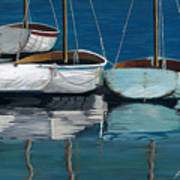 Anchored Reflections I Print by Sharon Kearns