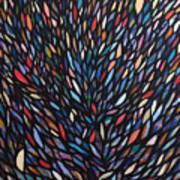 Anchovies  Abstract Fish Art Print