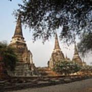 Ancient Buddhist Stupas Art Print