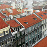 Ancient Buildings At Lisbon. Portugal Art Print