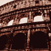 Ancient Colosseum, Rome Art Print