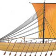 Ancient Empire Trade ship Art Print