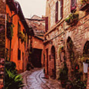 Ancient Italian Village Art Print