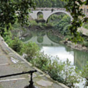 Ancient Roman Foot Bridge Art Print