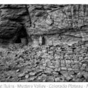 Ancient Ruins Mystery Valley Colorado Plateau Arizona 02 Bw Text Art Print