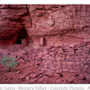 Ancient Ruins Mystery Valley Colorado Plateau Arizona 02 Text Art Print
