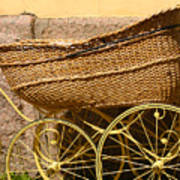 Ancient Swedish Baby Carriage Art Print