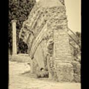 Ancient Wall Of Ostia Antica Art Print