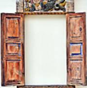 Ancient Window. Mermaid. Art Print