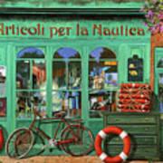 Ancora Una Bicicletta Rossa Art Print