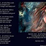 And She Cried - Poetry In Art Art Print