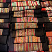 Andean Textile Market Art Print