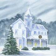 Anderson Mansion Christmas Art Print