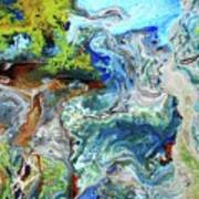 Andes-glacier...serie Art Print