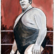 andre the giant art print by dave olsen