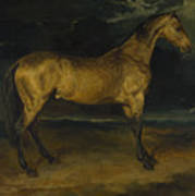 Andre Theodore Gericault   A Horse Frightened By Lightning Art Print