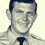 Andy Griffith, Vintage Actor Art Print