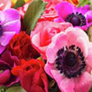 Anemones And Roses Art Print