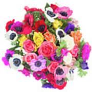 Bouquet Of Anemones Art Print