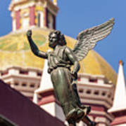 Angel And Cathedral Art Print