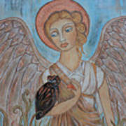 Angel And Owl Art Print