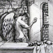 Angel And Still Life Art Print