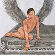 Angel And The Piano Art Print