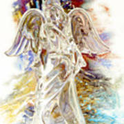 Angel At The Cross Art Print