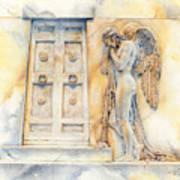 Angel At The Gate Art Print by David Evans
