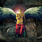 Angel Body Art Art Print