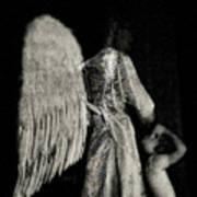 Angel Bw Art Print