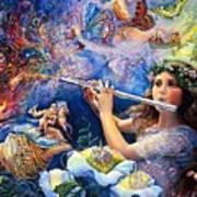 Angel Flute Art Print