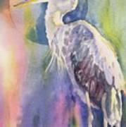 Angel Heron Art Print
