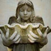Angel Holding Shell Art Print