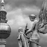 Angel In Berlin Print by Marc Huebner