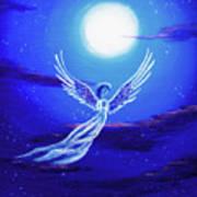 Angel In Blue Starlight Art Print