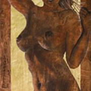 Angel In Gold Art Print