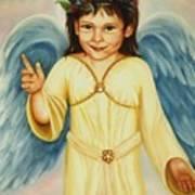 Angel In Yellow Art Print