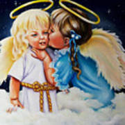 Angel Kiss Art Print