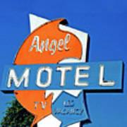 Angel Motel Art Print