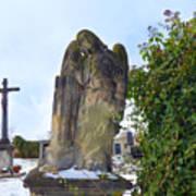 Angel On Graveyard Art Print