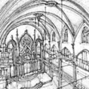 Angel Orensanz Sketch 3 Art Print by Adendorff Design