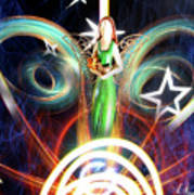 Angel Sunrise Art Print